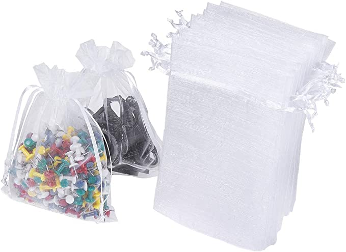 WHOLESALE LOTS 100pc WEDDING SILK JEWELRY ORGANZA POUCH GIFT MUSLIN BAG 6 COLORS
