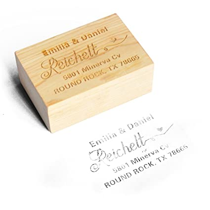 amazon com return address stamp custom rubber stamp personalized