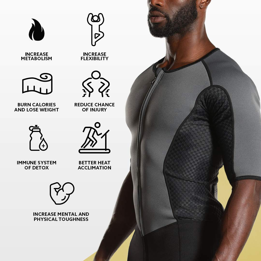 Kutting Weight Neoprene Weight Loss Men's & Women's Sauna Suit (Black, 3XL) by Kutting Weight (Image #6)