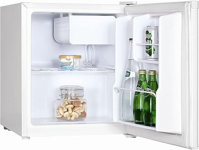 Exquisit KB45 Mini frigo bar con congelatore, A+, Silenzioso, 47L,  Compressore e freezer, Frigorifero piccolo portatile da camera, ufficio,  B&B, Hotel