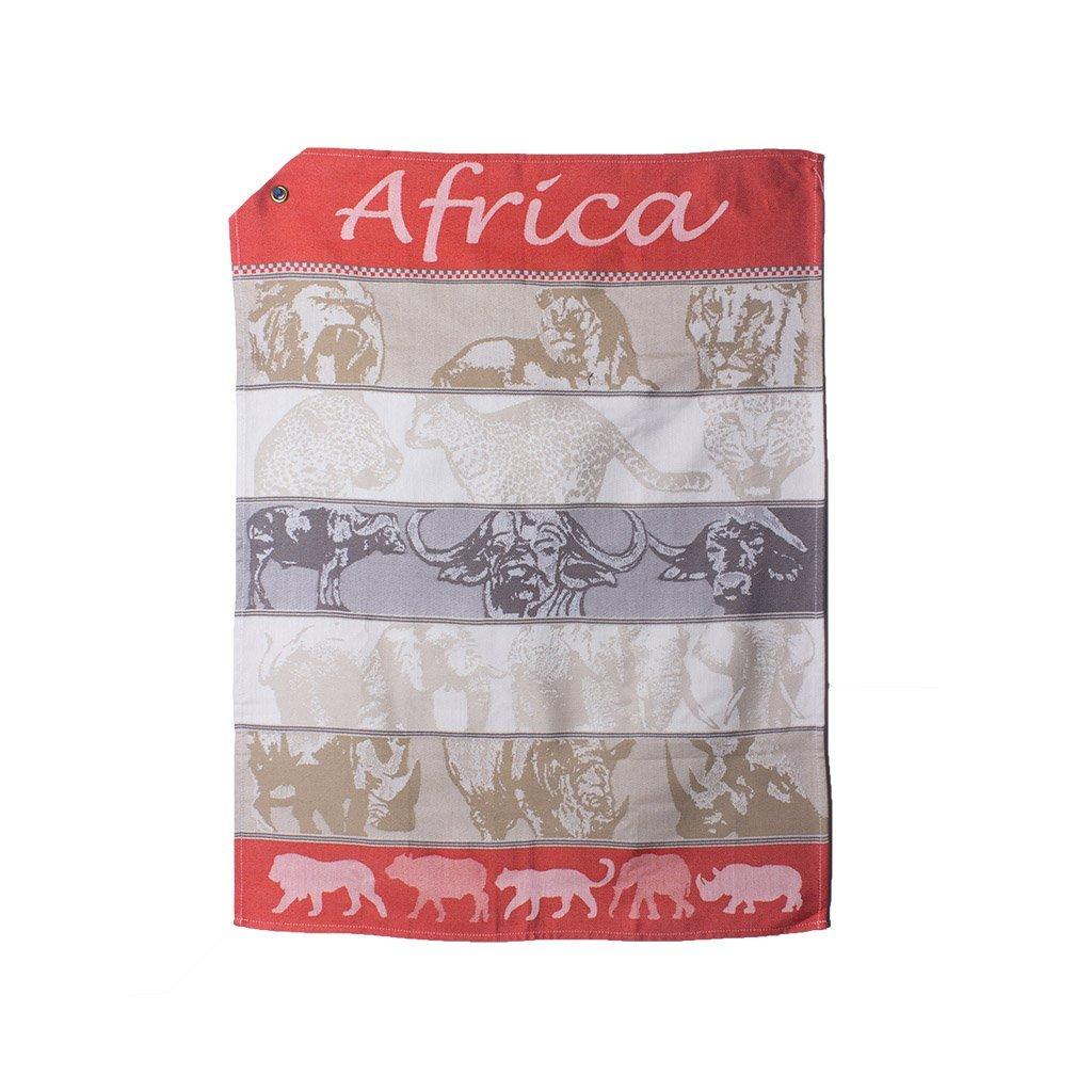Iniva | African Jacquard Tea Towel African Safari Orange