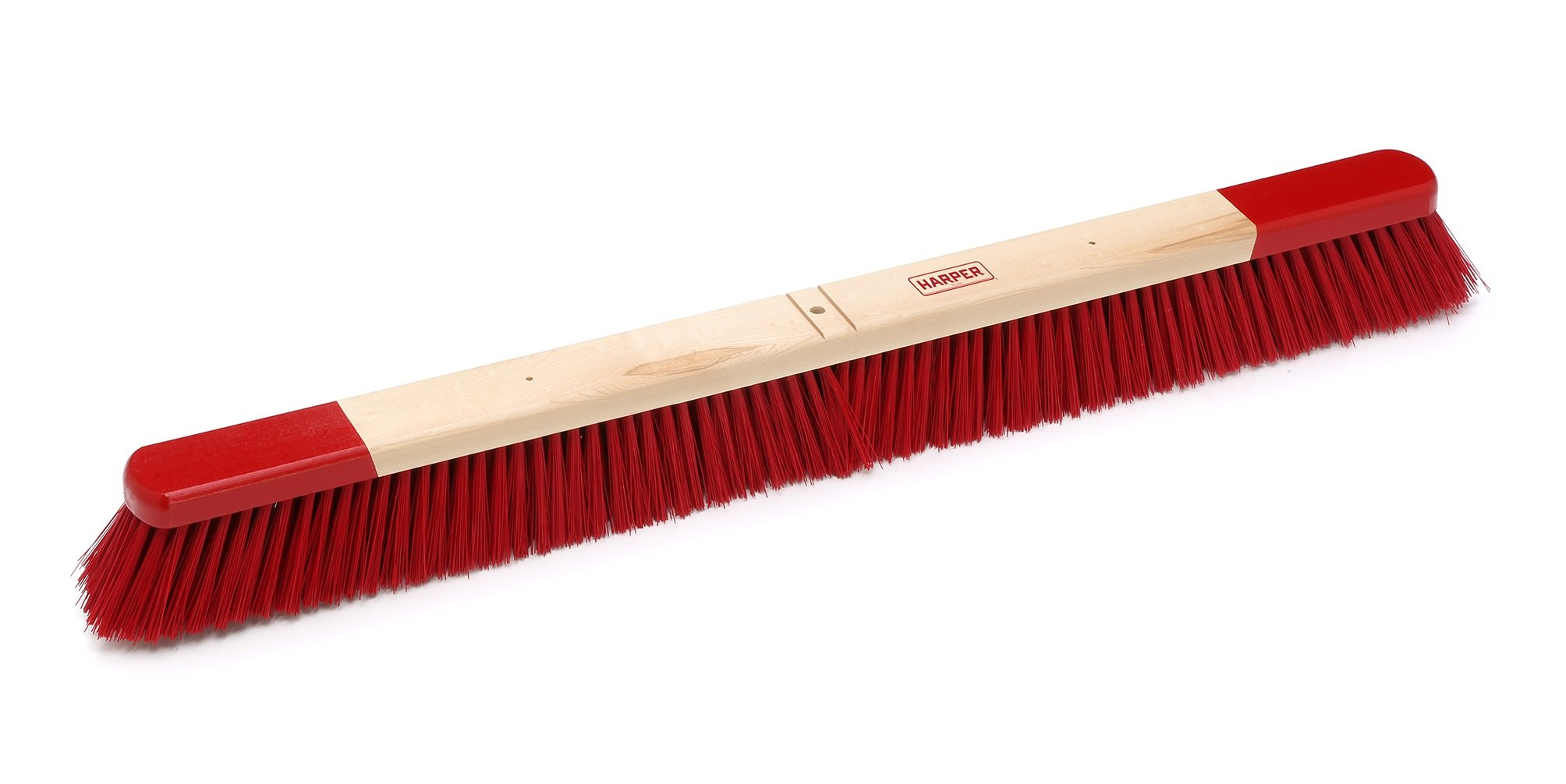 Harper Brush 733612 Broom Head, Polystyrene Fiber, All Purpose, Semi to Rough Wed or Dry Surface, Maple, 36'' (Pack of 6) by Harper Brush
