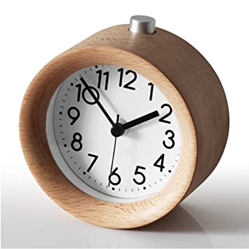 amazon com battery operated clock cute little bedside silent alarm