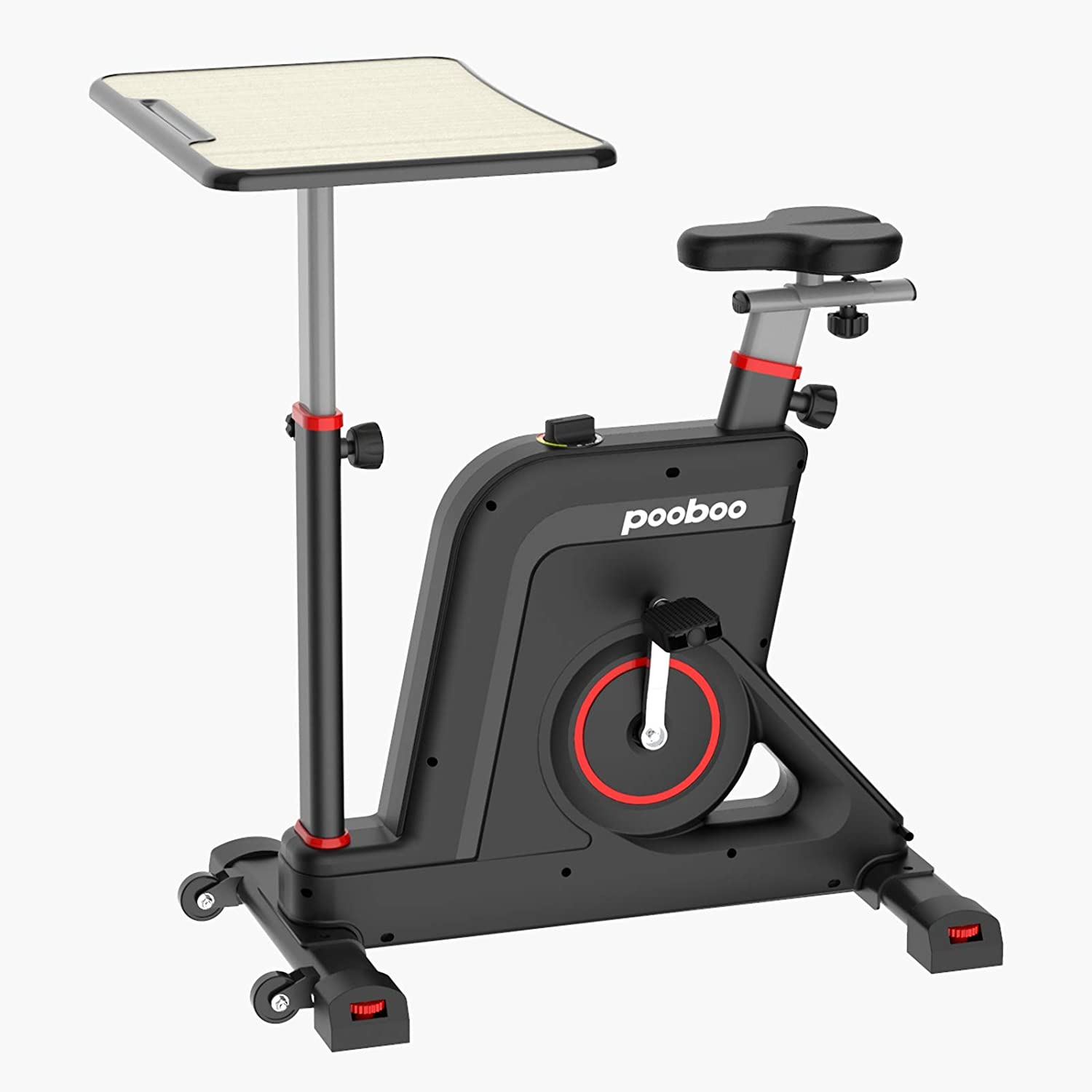 Afully Exercise Bike Desk Cycle Standing Desk Bike, 8 Magnetic Resistance, Height Adjustable, Super Quiet for Home Office School Indoor Bicycle Fitness
