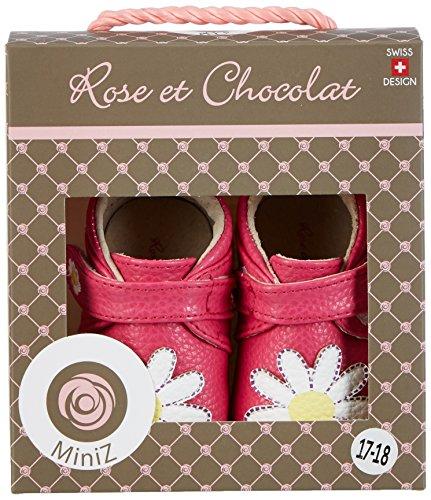 Rose & Chocolat Dainty Daisy - Zapatillas de casa Bebé-Niños Rosa (Fuchsia)