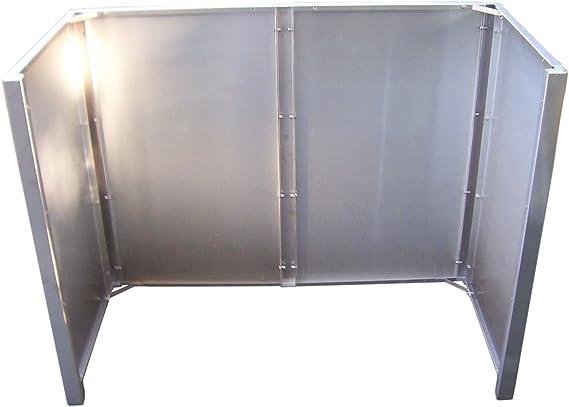 Gero Metal contenedores de privacidad, contenedores Corso para Dos Cubos de Basura 120 litros: Amazon.es: Jardín