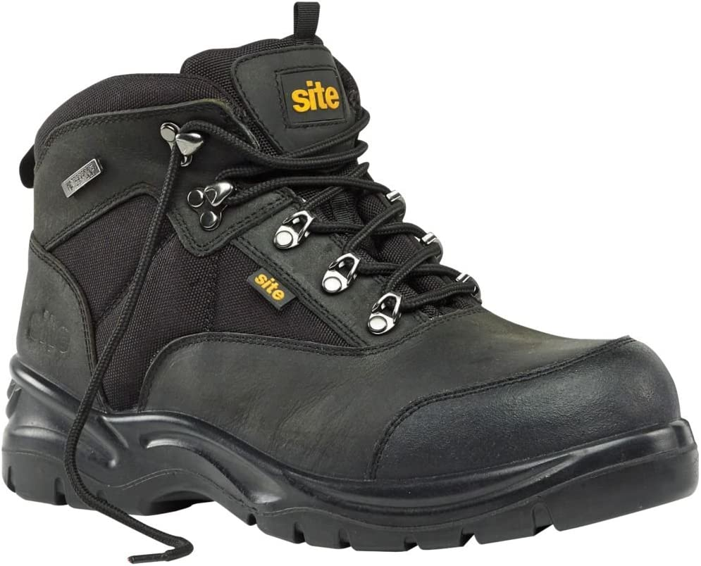 Site Onyx - Botas de seguridad (talla 11), color negro: Amazon.es ...