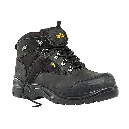 Zapato de seguridad Botas obras Onyx Negro Tamaño 9