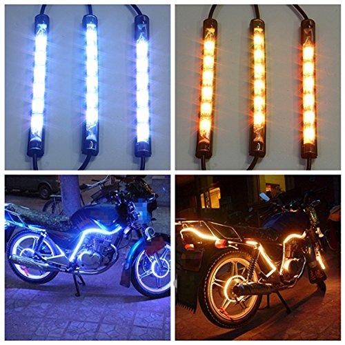 HITSAN 10pcs Waterproof RGB LED Flexible NEON Strip Light Kit For Motorcycle Auto ATV One Piece