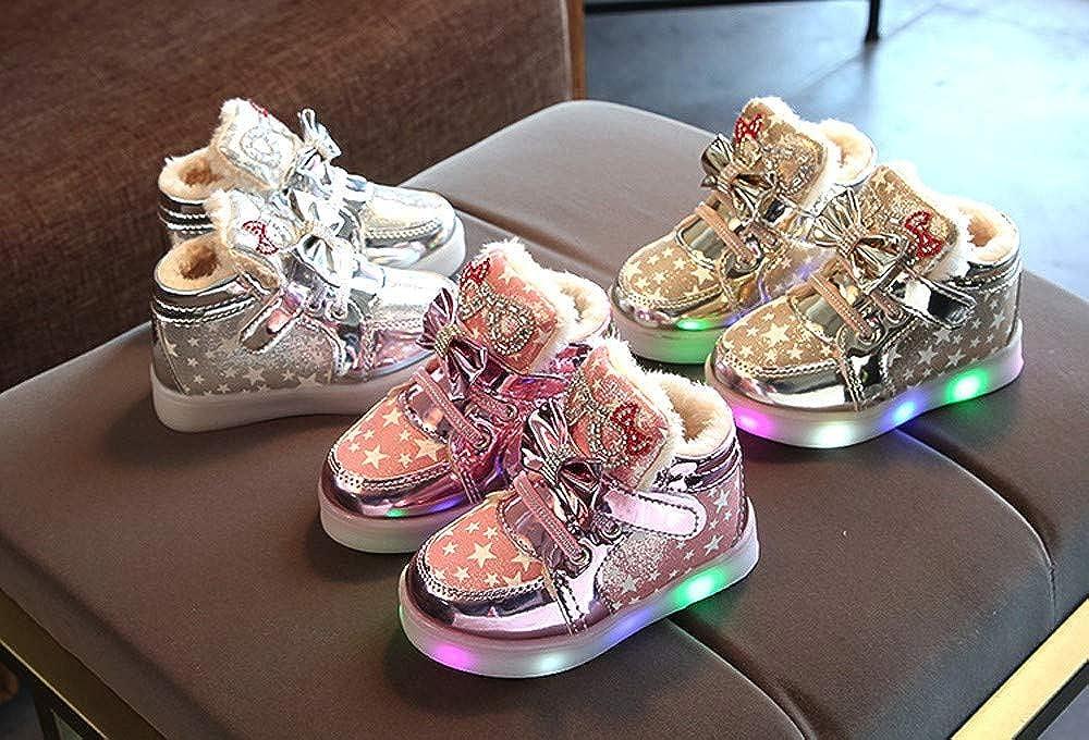 Chaussures de B/éb/é Manadlian B/éb/é Mode Sneakers Unique Color/é LED Allumer Sneakers pour Enfants Lumineux Star Occasionnel Chaussures