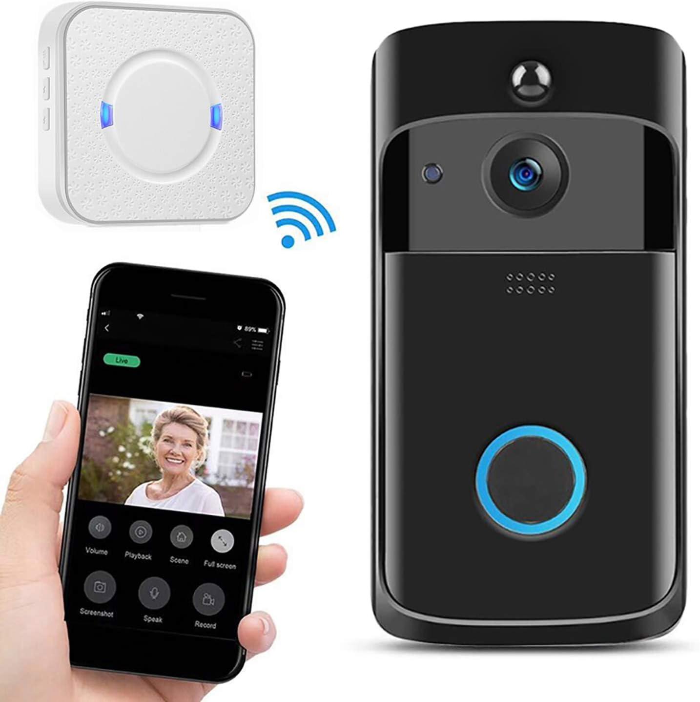 Wireless Doorbell Camera 1080P HD WiFi Video Door Phone Intercom Security Bell