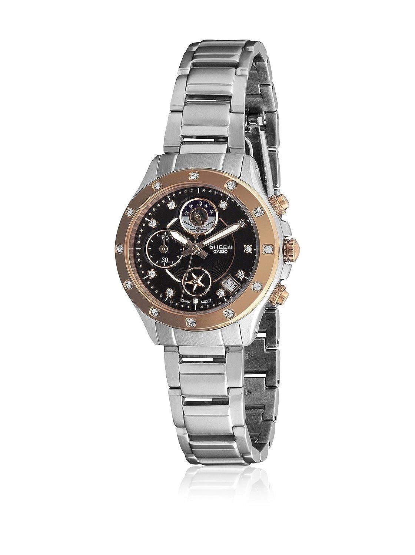 95460128fbcb CASIO 19830 SHN-5511SG-1A - Reloj Señora cuarzo brazalete metálico dial  negro  Amazon.es  Relojes