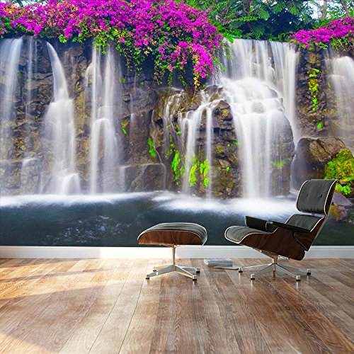wall26 - Self-Adhesive Wallpaper Large Wall Mural Series (66''x96'', Lush Waterfall) by wall26 (Image #1)