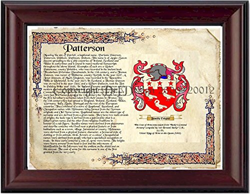 Patterson Coat of Arms/ Family Crest on Fine Paper and