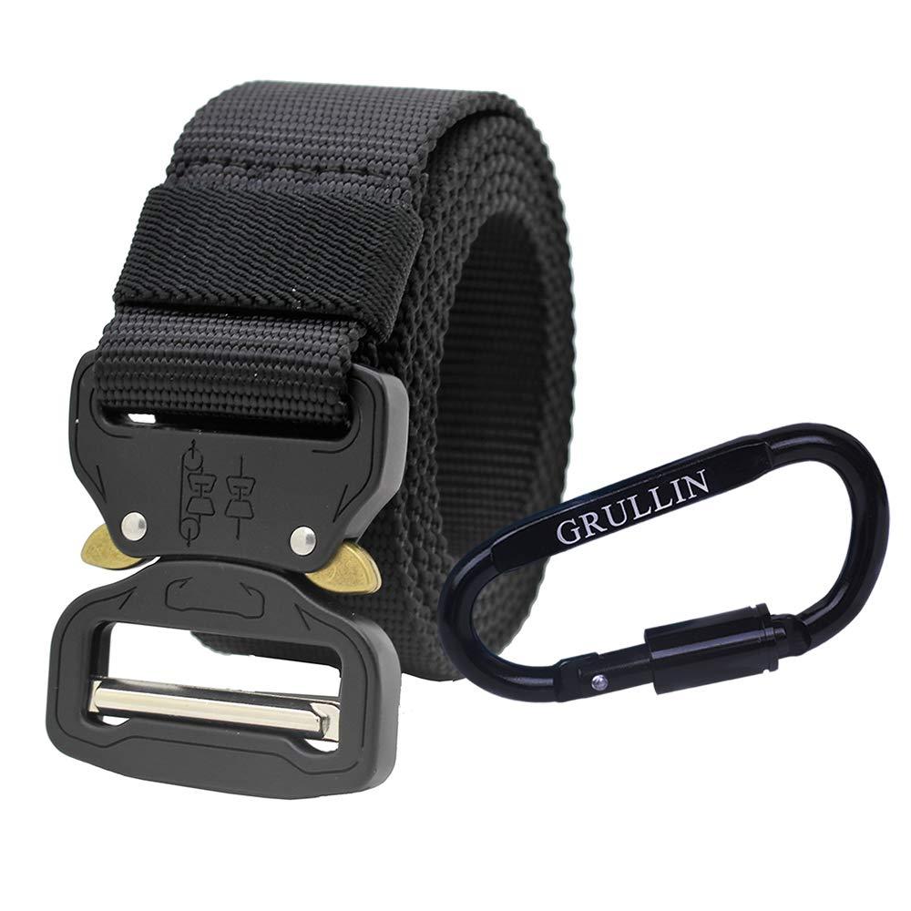 Nylon Webbing Molle EDC Clip Belt GRULLIN Men Tactical Nylon Belt Military Duty Rigger Wasitbelt