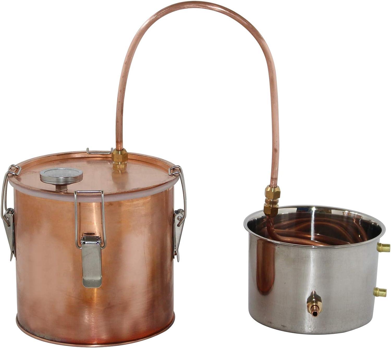 NEW 1.5 Gallon Copper Pot Moonshine Still Home Brew Kit Water Distiller