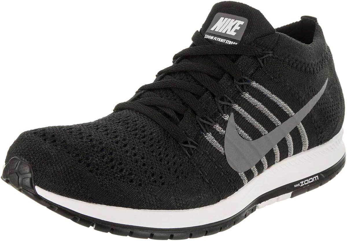 Nike Unisex Flyknit Streak Black Dark Grey Wht Running Shoe 8.5 Men US 10 Women US