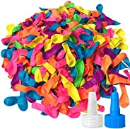 Hibery 1000 Pack Water Balloons with Refill Kits, Latex Water Bomb Balloons Fight Games - Summer Splash Fun fo