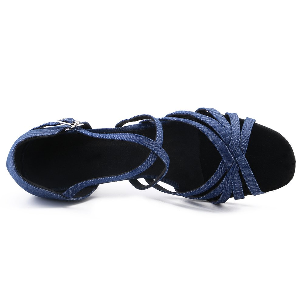 LOVELY BEAUTY Lady's Ballroom Dance Shoes for Chacha Latin Salsa Rumba Practice B07D5T8PCH 10 B(M) US|Blue