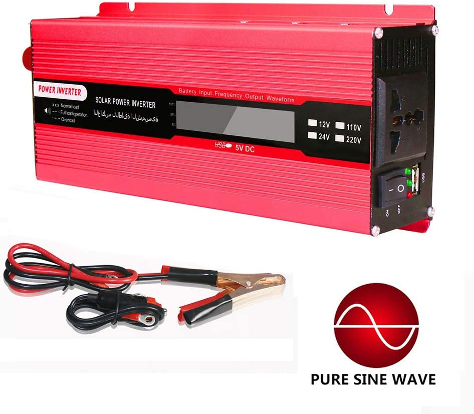 2000W Modified sine Wave which Power Inverter 12V DC to 110 V AC Output Converter with LCD Display and Powerful USB Port for RV's, Cars, Home Use,2000W 61te6V9pEbL