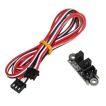 ILS - Sensor Interruptor límite Final Carrera óptico con 1M 3 Pines Cable para Impresora 3D