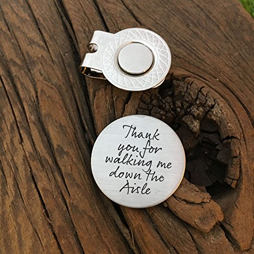 Thank You For Walking Me Down The Aisle Golf Ball Marker Marker Unique Gift For My Father Wedding Gift For (Aisle Walking)