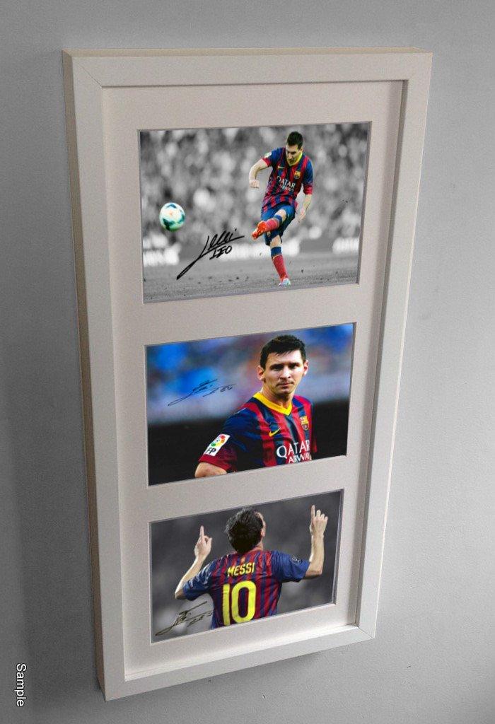 Amazon.de: Große signiert, Lionel Messi Barcelona Bilderrahmen ...