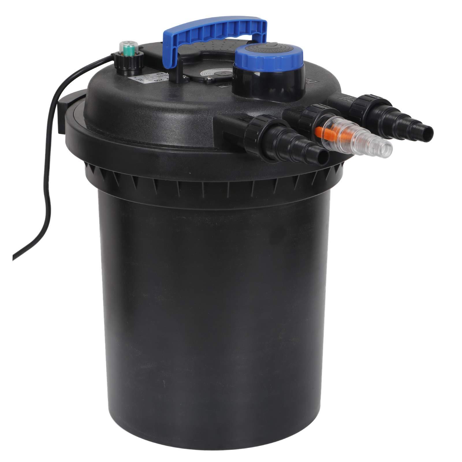 10000L Pond Pressure Bio Filter UV Sterilizer Water PurifierClarifier Koi Fish Ponds Skimmer With Ultraviolet Light& Flow Indicator for Aquarium,Algae Control by ZENSTYLE (Image #1)