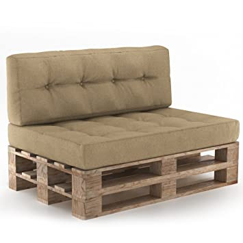 Pallet Furniture Pallet Cushion Furniture With Backrest And Seat