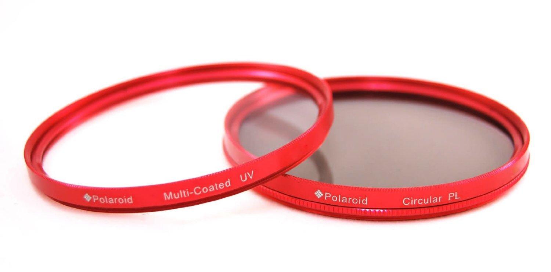 Polaroid Optics 72mm Multi-Coated Dual Filter Kit RED (MC UV, CPL)