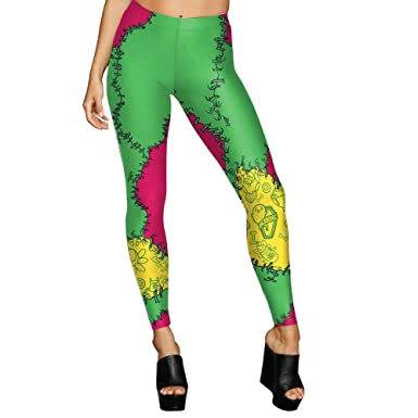 HXX Yoga Pant Women Leggings 3D Printed Flower Skeleton ...