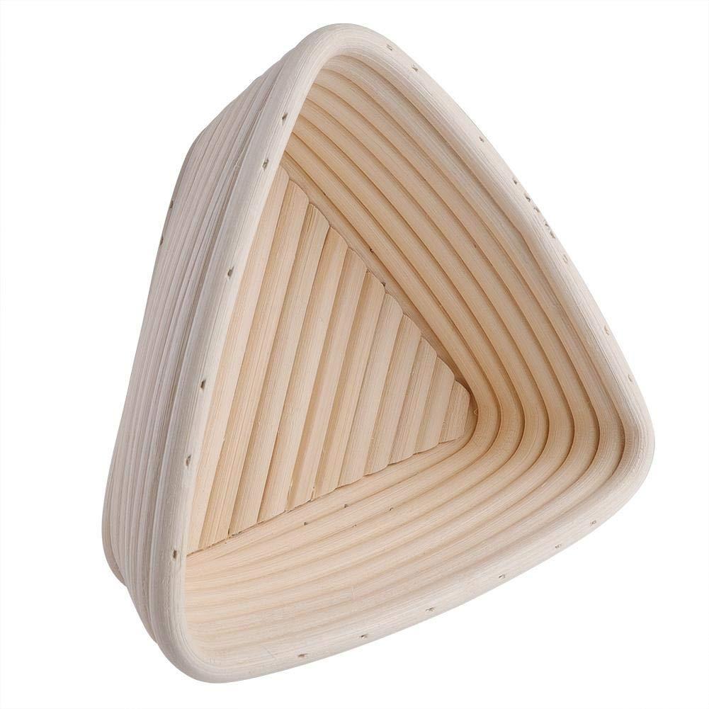 TOPINCN Cestini di Pane Cestino in Rattan Fatto a Mano Ciotola in Rattan Triangolare Facile da Pulire Basket