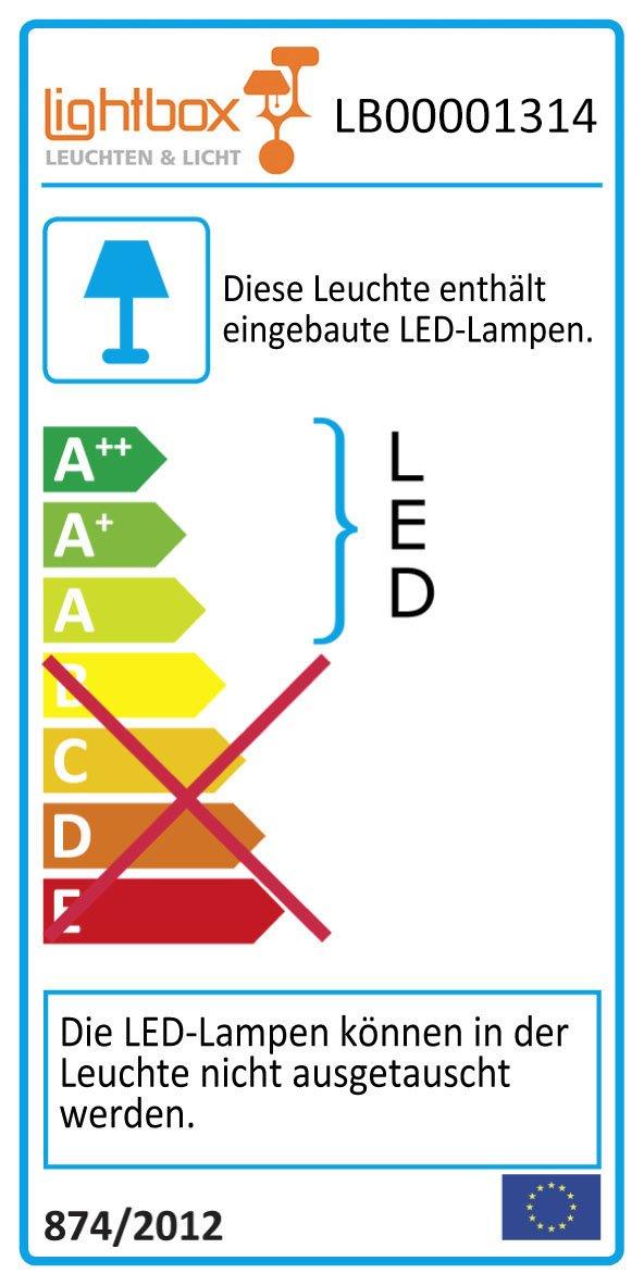 nickel eloxiert//wei/ß Metall//Kunststoff 3x 1200 Lumen 2700-6200K 3x 14W LED integriert LED Deckenleuchte 3-flammig