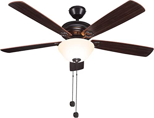 52 Inch Indoor Oil-Rubbed Bronze Ceiling Fan