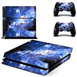 UUShop Galaxy Blue Galactic Game Vinyl Decal Protective Cover Sticker for Sony PlayStation 4 PS4 Console and 2 Dualshock Controllers Skin