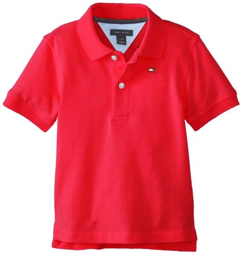 Tommy Hilfiger Baby-Boys Newborn Ivy Polo Shirt, Regal Red, 12 Months