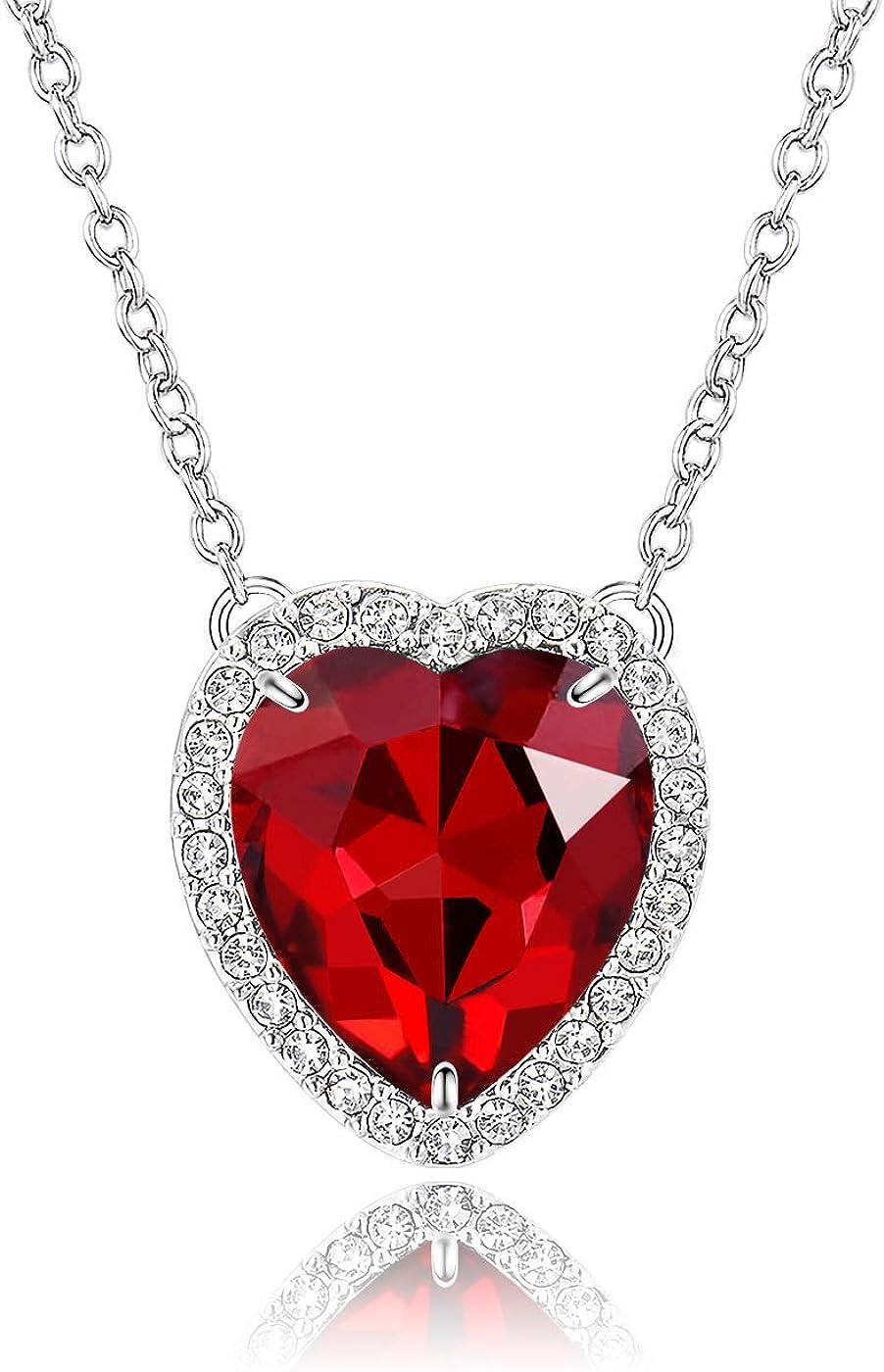 November Birthstone Fabulous Sterling Silver /& Blue Topaz Heart Pendant