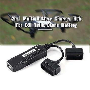 Dailyinshop 2en1 Cargador de batería múltiple Hub Carga ...