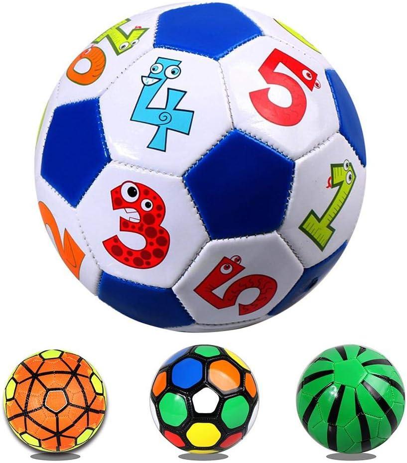 pour Enfants et Adultes smileyshy Football pour Enfants Usage int/érieur et ext/érieur Ballon dentra/înement en Cuir Souple Gonflable pour Football
