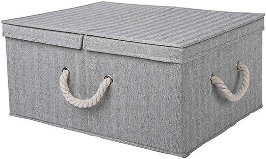 Cajas de almacenamiento de ropa Caja de almacenamiento plegable de tela Tapa doble con división de