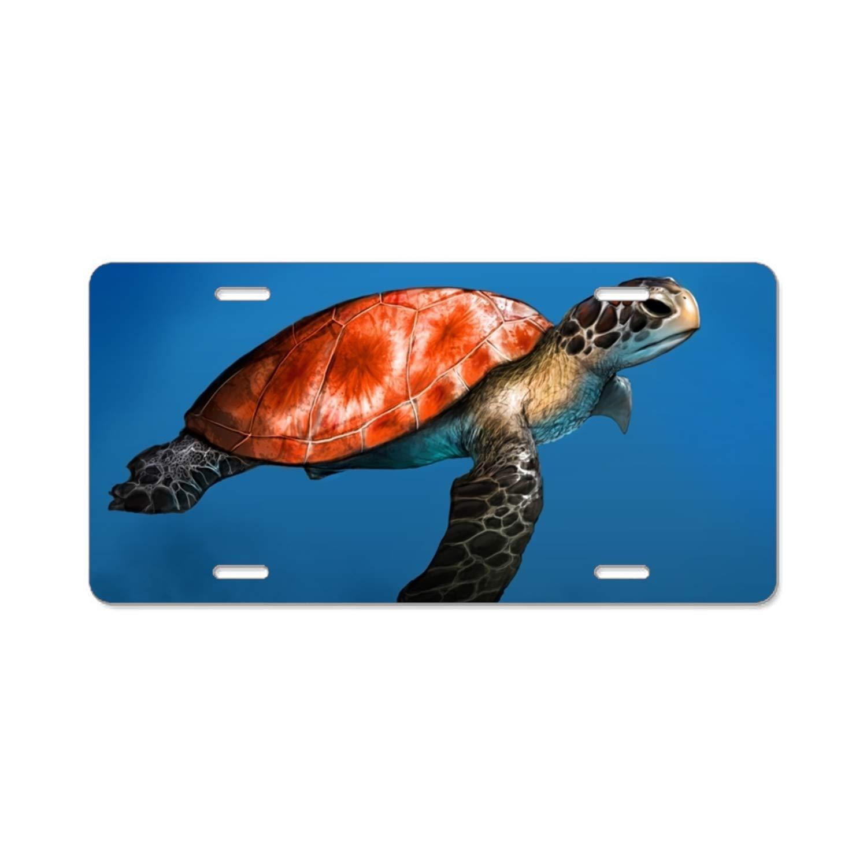 I Brake For Turtles License Plate Tag Frame Sea Turtle Design