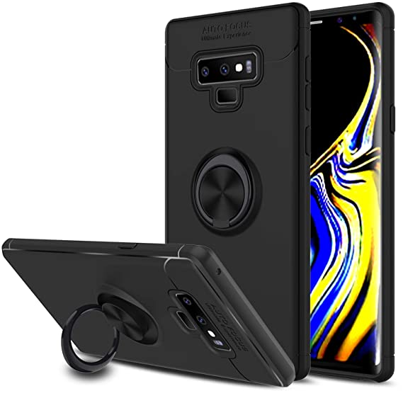 size 40 358e5 085ea Galaxy Note 9 Case, Elegant Choise Hybrid Slim Durable Soft 360 Degree  Rotating Ring Kickstand Protective Case with Magnetic Case Cover for  Samsung ...
