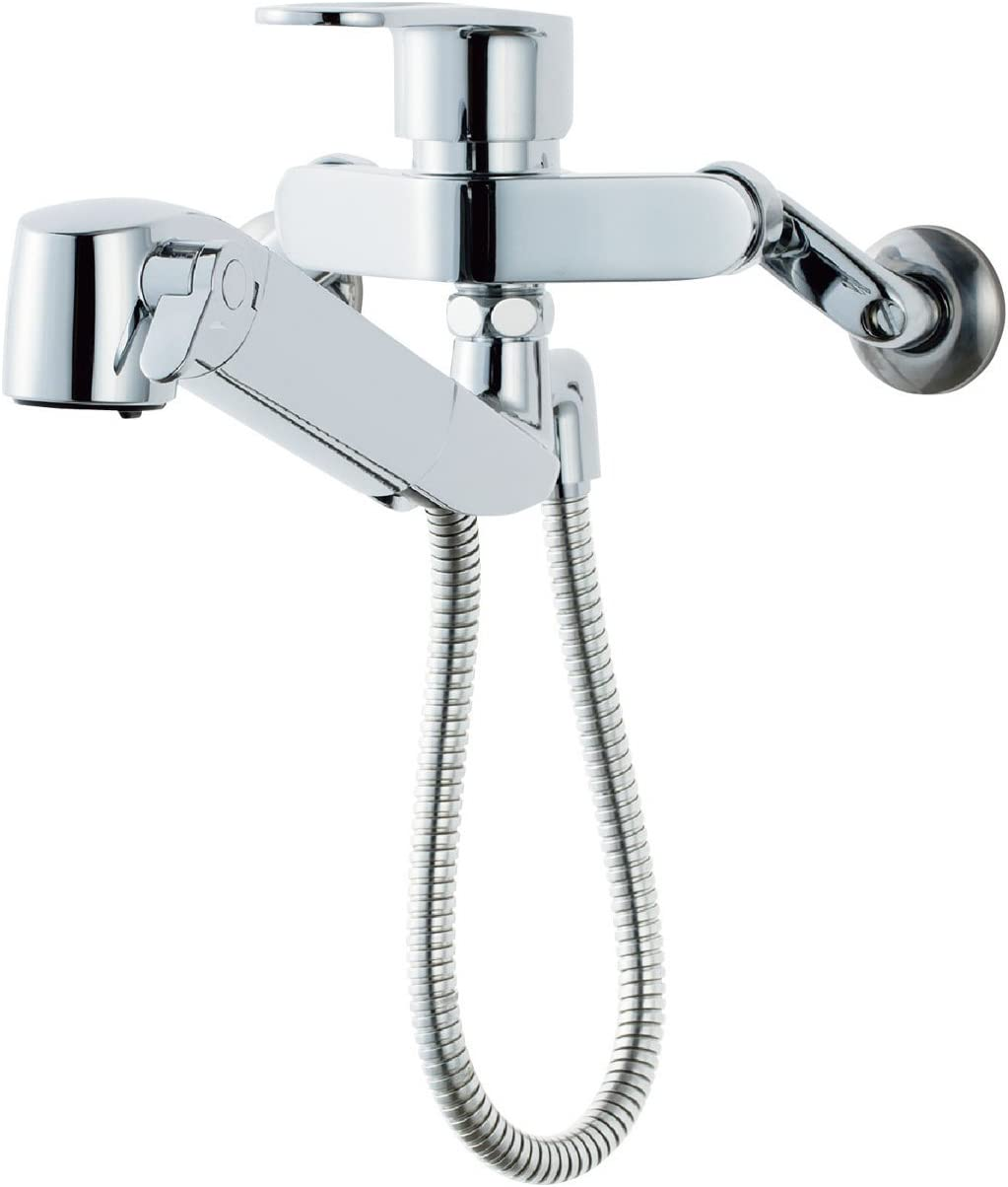 LIXIL 壁付浄水器内蔵シングルレバー混合水栓 ハンドシャワー付 RJF-865Y