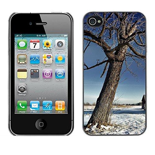 Premio Sottile Slim Cassa Custodia Case Cover Shell // F00003387 tress en hiver // Apple iPhone 4 4S 4G