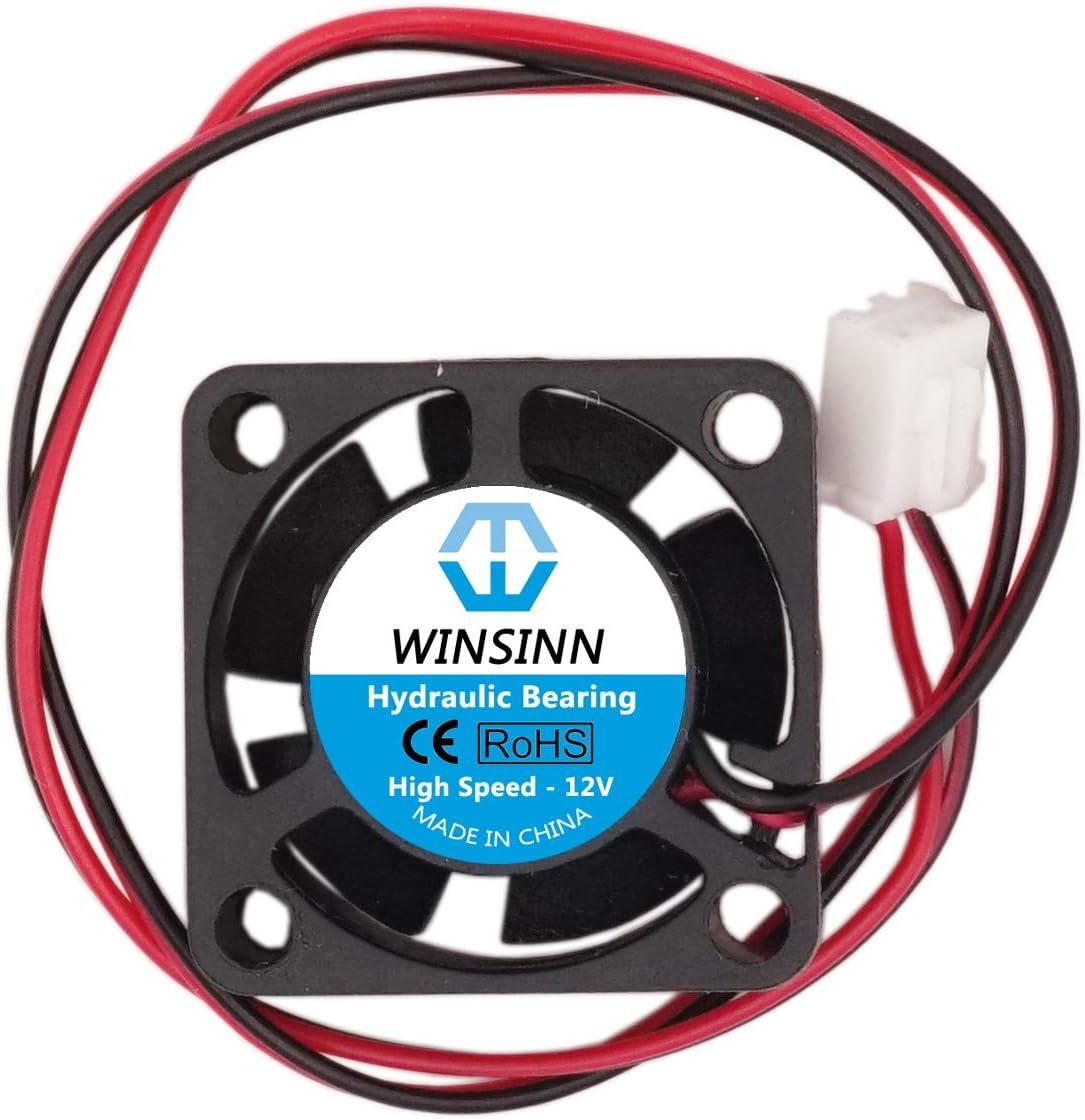cuscinetto idraulico senza spazzole 2510 25 x 10 mm Colore del LED: 2510 5 V. 12 V 24 V 5 V Winsinn ventola a LED a colori da 25 mm