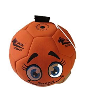 Mauzi–Ballon–Le–Bande de caoutchouc, la boule Fitness et d'entraînement en néoprène pour intérieur (Orange Fluo)