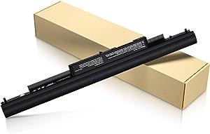 POWERWOO 807956-001 Battery HP HS04 Laptop Battery Replacement for HP Spare 807957-001 807612-421 HP Notebook 15-AY 15-AC Series HS03 HSTNN-LB6U HSTNN-LB6V 245 G4 255 G4 - [14.8V-2600mAh-38Wh]