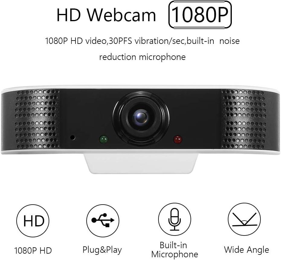 C/ámara USB para Reuniones//Estudio en L/ínea OWSOO 1080P 2MP HD C/ámara Webcam Incorporado Micr/ófono