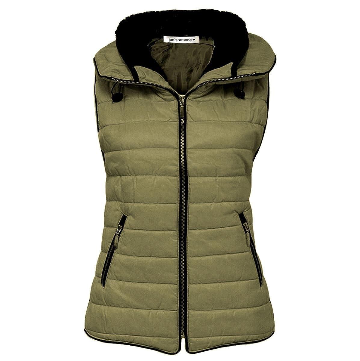 New Ladies Mens Zip up Sleevelees Quilted Vest Body Warmer Gilet Women/'s Jacket
