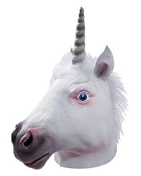 Máscara loca unicornio